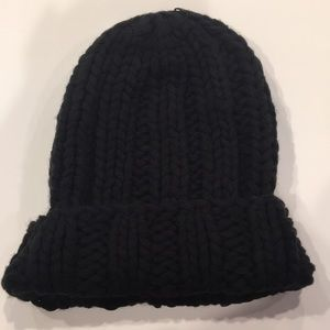 Free People Black Knit Hat